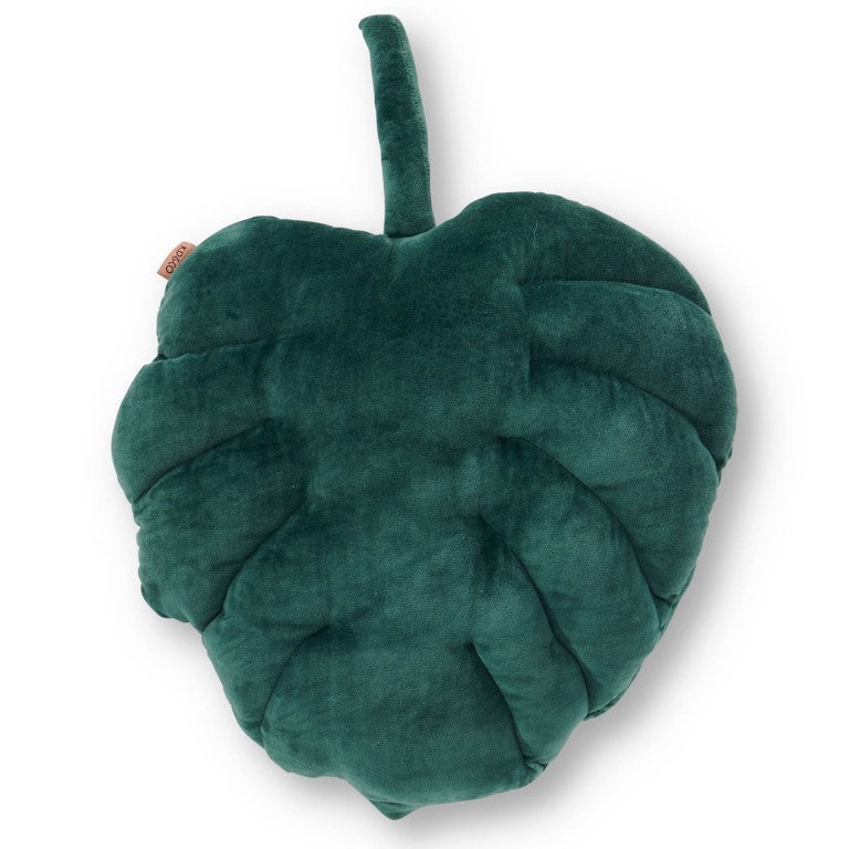 Kip and Co Velvet Cushion - Monstera Sycamore Green