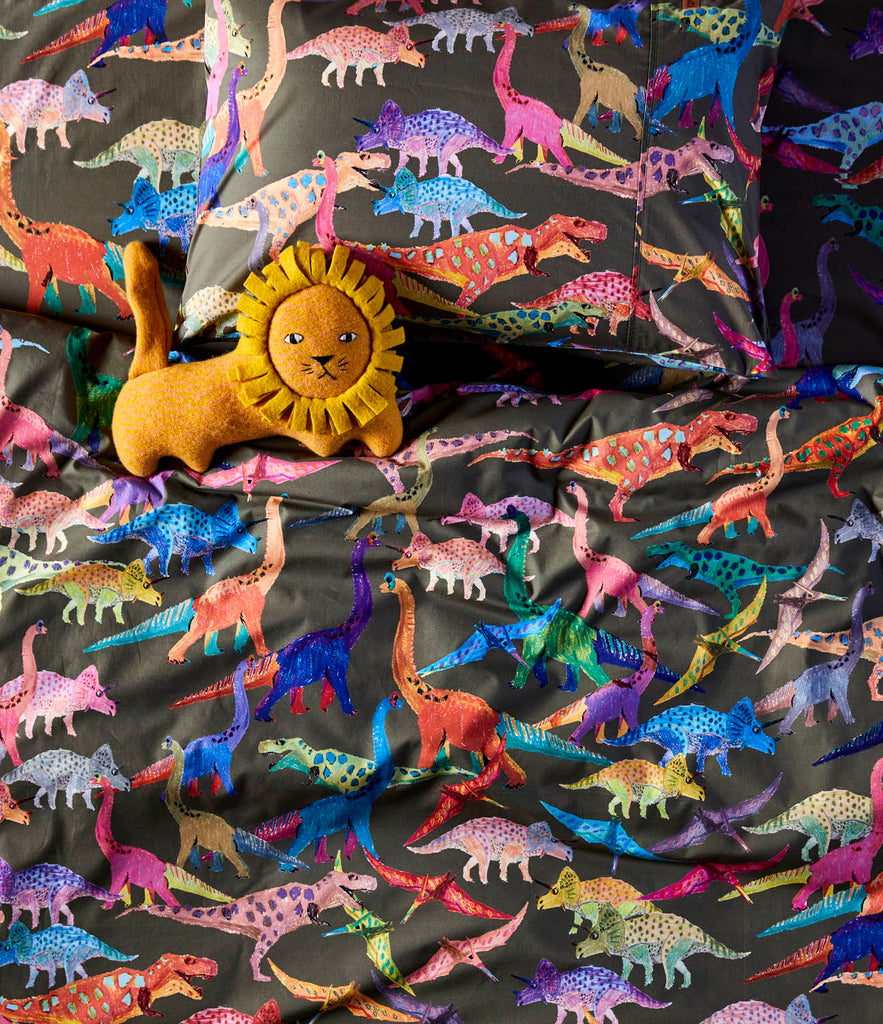 Kip and Co Single Quilt Cover - Dinosaur Earth