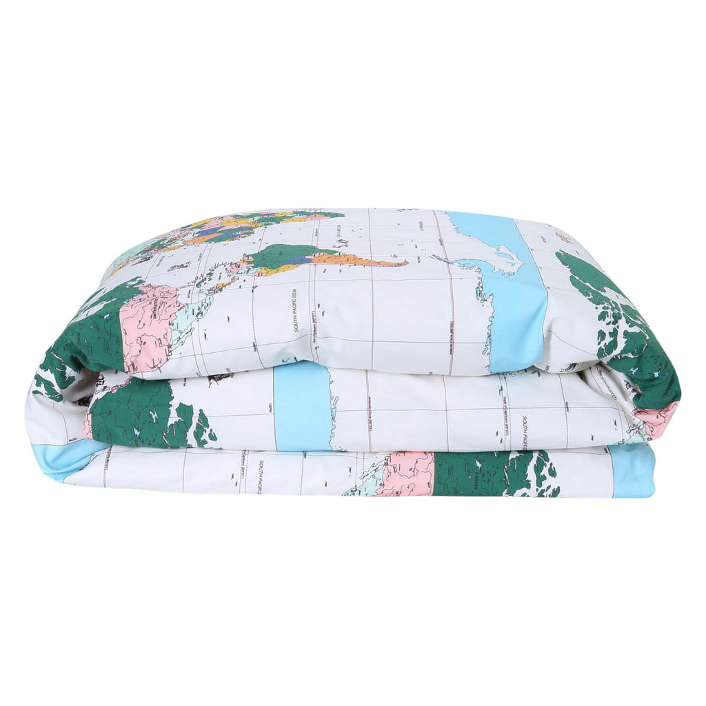 Kip & Co Flight Path Cotton Fitted Single Quilt Cover
