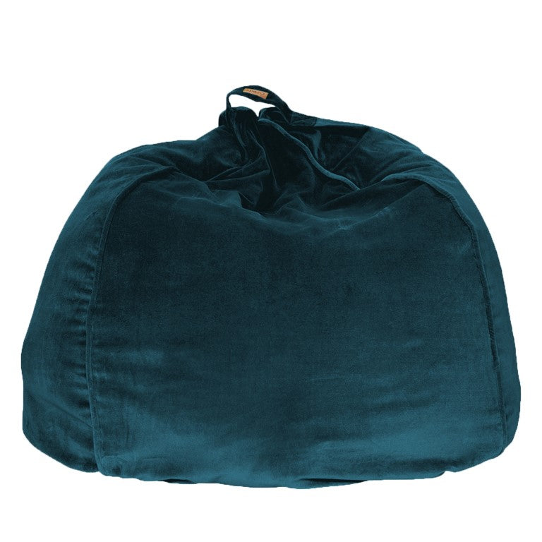 Kip & Co Velvet Beanbag - Green Sea Velvet