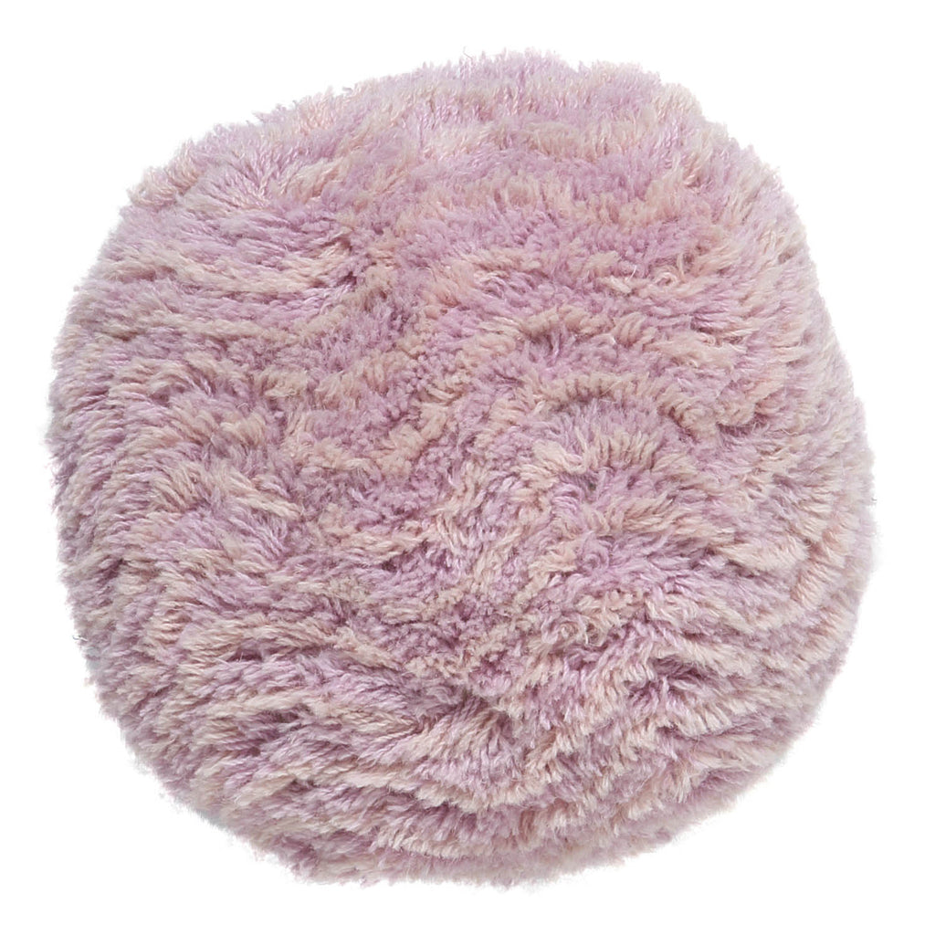 Kip & Co Pinky Lines Round Shag Wool Kids Cushion