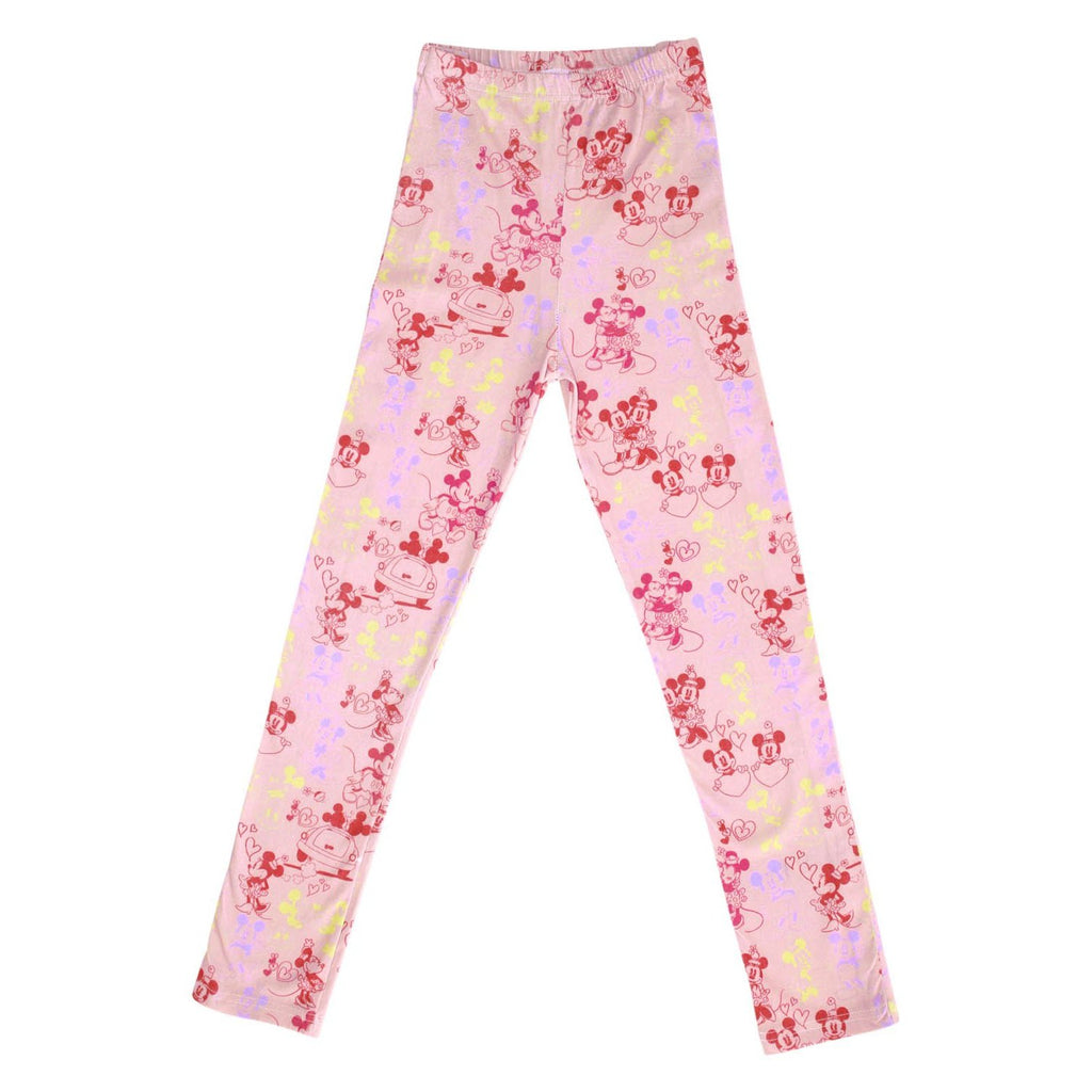 Kip & Co Disney Collaboration  Mickey and Minne Love Pink Jersey Baby Leggings