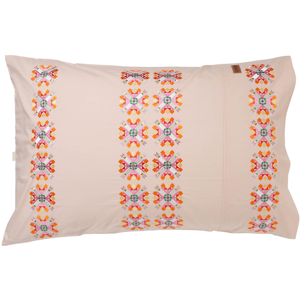 Kip and Co Pillowcase - Frida Embroidered