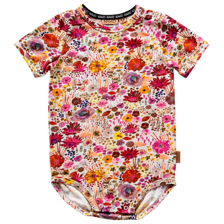 Kip & Co Organic Cotton Short Sleeve Bodysuit - Field of Dreams