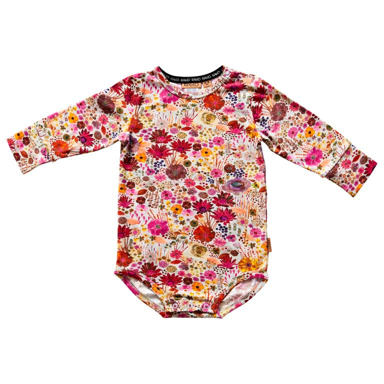 Kip & Co Organic Cotton Long Sleeve Bodysuit - Field of Dreams