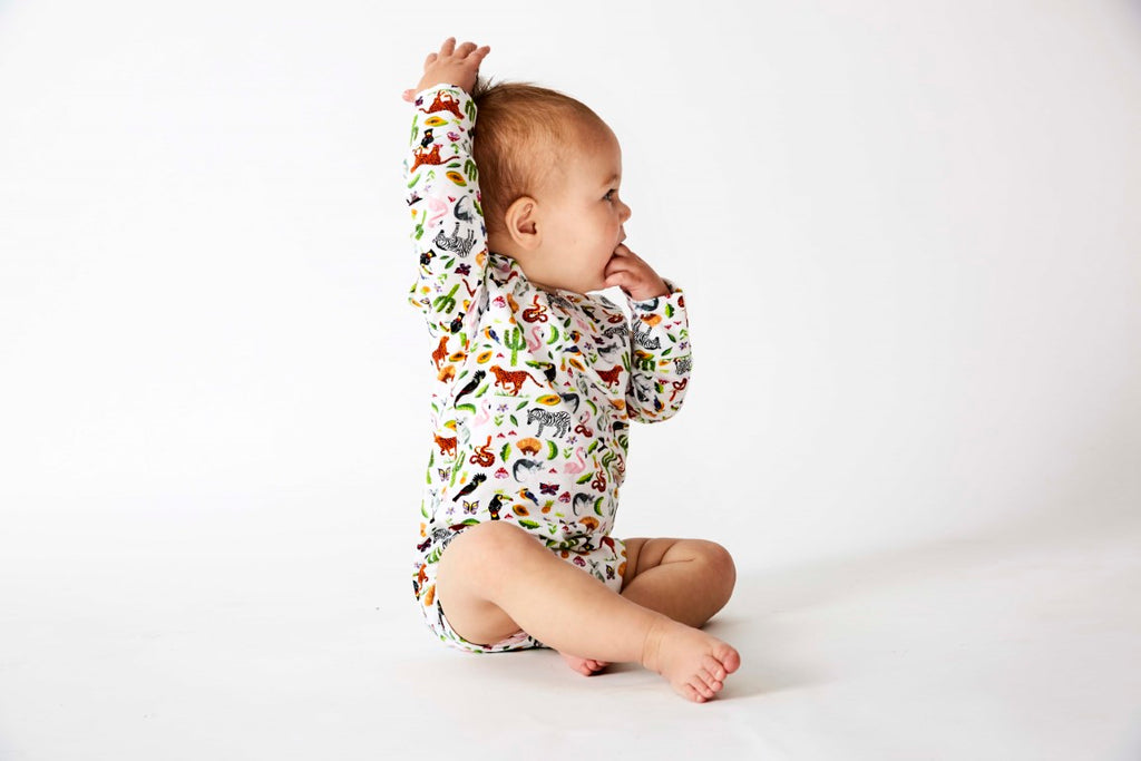 Kip & Co Organic Cotton Long Sleeve Bodysuit - In The Jungle