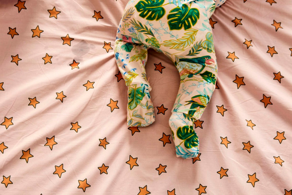 Kip & Co Organic Cotton Long Sleeve Zip Romper - Birds of Paradise