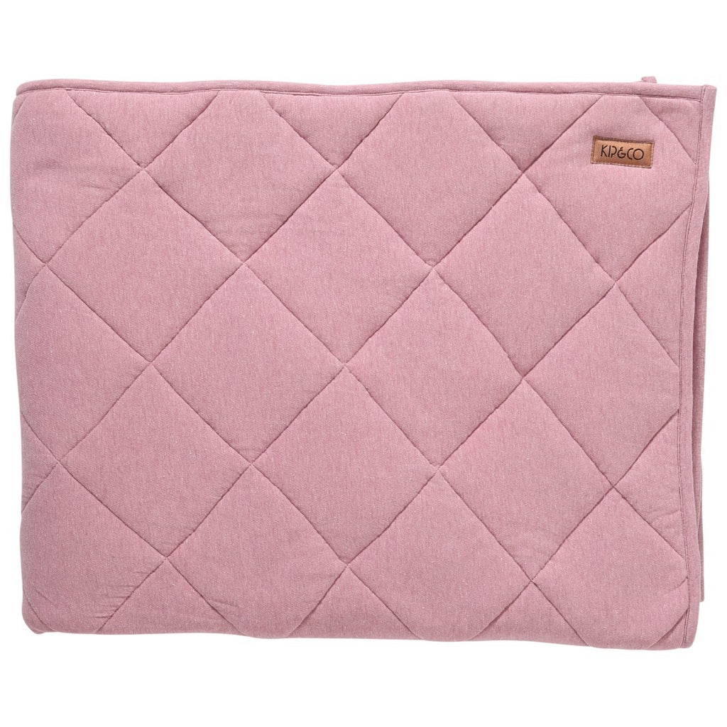 Kip & Co Rose Pink Quilted Jersey Bedspread Comforter - Cot