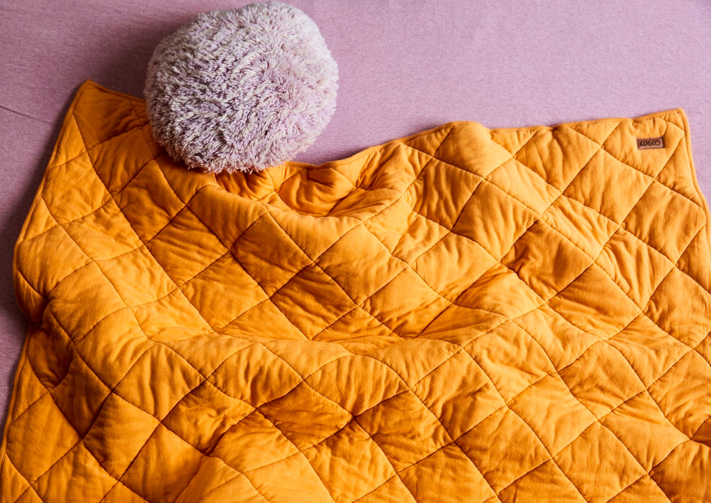 Kip & Co Sunny Days Quilted Jersey Bedspread Comforter - Single
