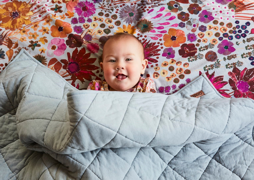 Kip & Co Field of Dreams Fitted Cot Sheet