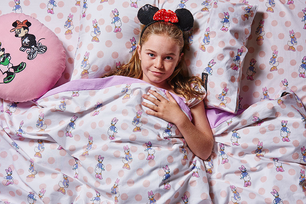 Kip & Co Disney Collaboration  Daisy Dot Pink Quilt Cover