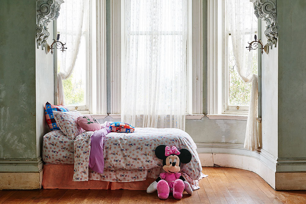 Kip & Co Disney Collaboration  Check Mate Velvet Pea Kids Cushion