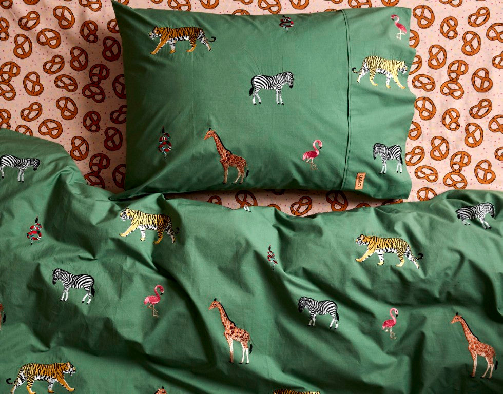 Kip & Co Kids Bedding - Savannah Embroidered Cotton Single Quilt Cover