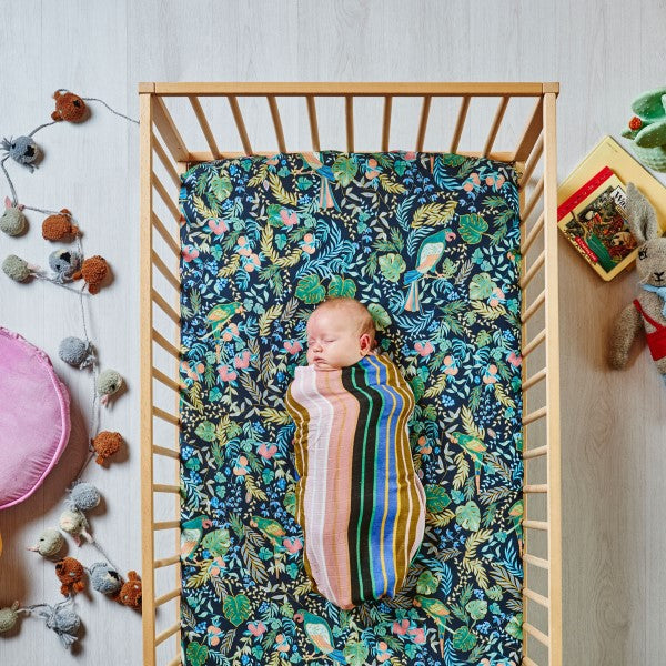 Kip & Co Birds of Paradise Cot Sheet