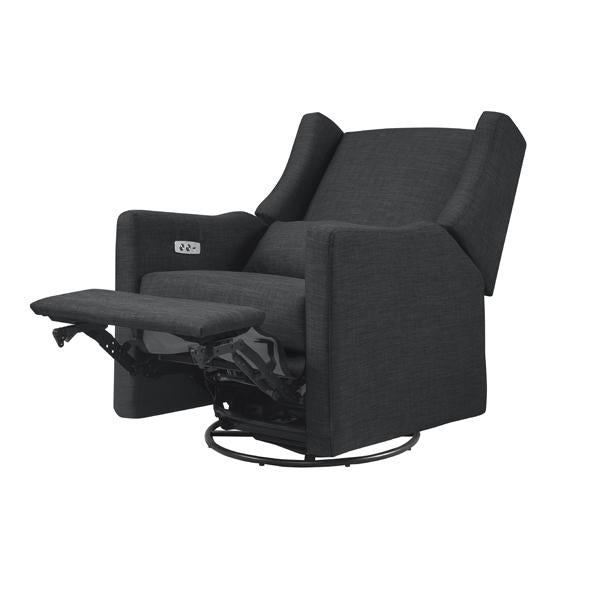 Kiwi – Electronic Recliner + Swivel Glider with USB Port – Coal