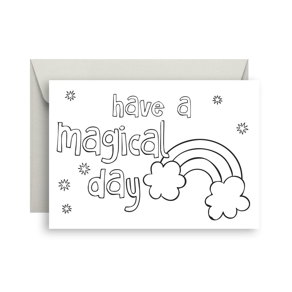 Sprout and Sparrow  Have a Magical Day Colour In Greeting Card