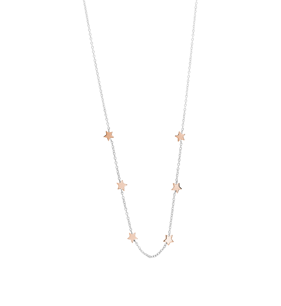 Little by Kirstin Ash - Little Star Necklace in Silver and Rose Gold