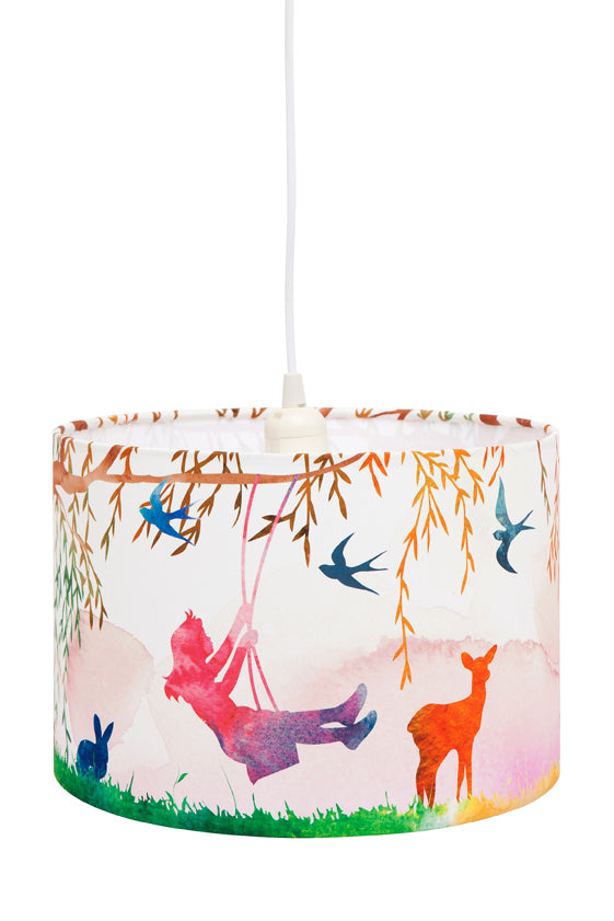 Micky & Stevie Kids Lamp Shades  Little Girl on a Swing