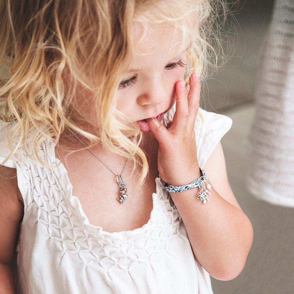 Little Kirstin Ash Kids Jewellery  Pearl Crystal Charm