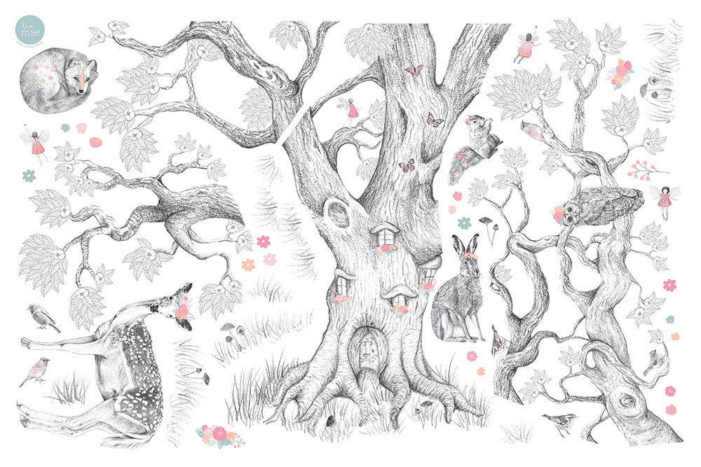 Love Mae Wall Decals - Enchanted Forest