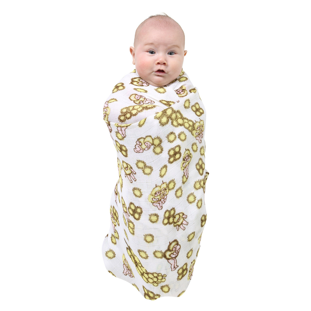 Kip & Co May Gibbs Collaboration - Wattle Babies Swaddle