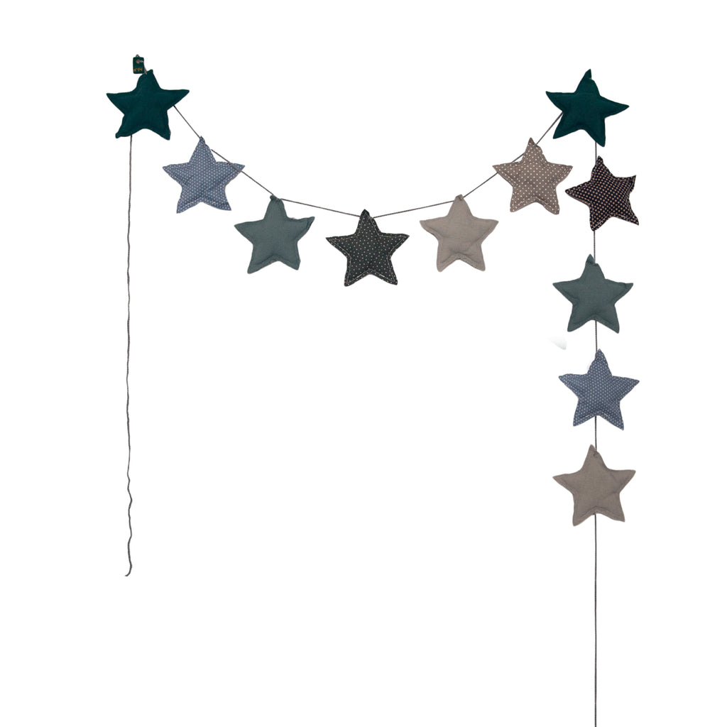 Numero 74 Star Garland - Mixed  Blue