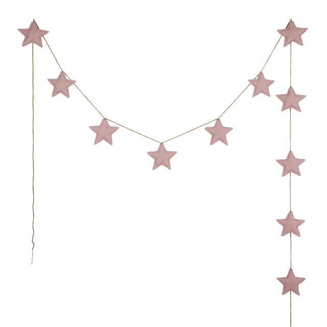 Numero 74 Star Garland - Dusty Pink