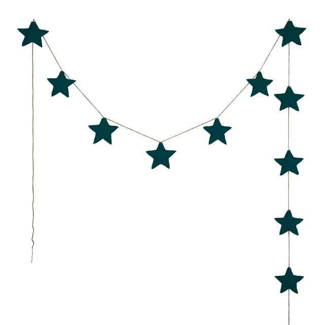 Numero 74 Star Garland - Teal Blue