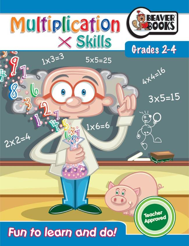 Beaver Learning Books - Maths Grade 2-4 Multiplication Skills