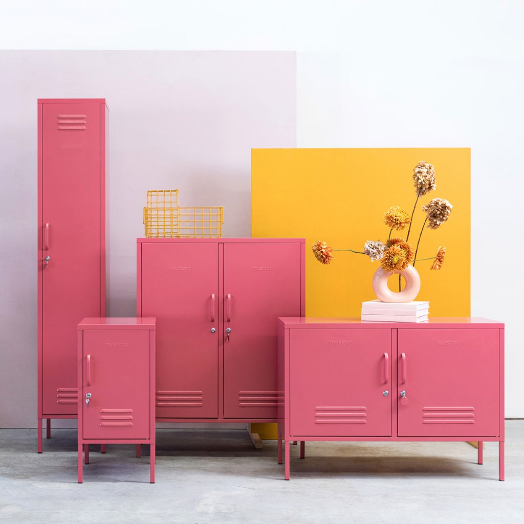 Mustard Made Metal Lockers - The Lowdown in Berry