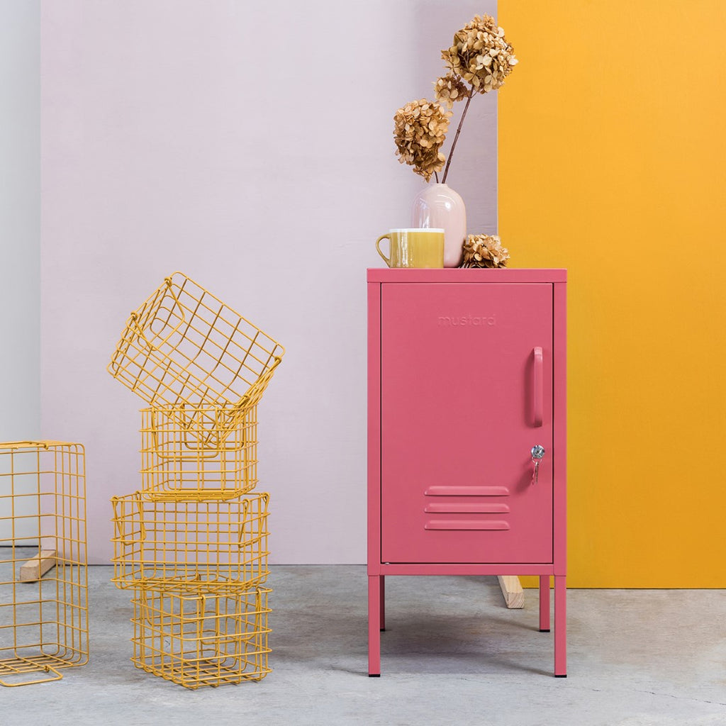 Mustard Made Metal Lockers - The Shorty in Berry