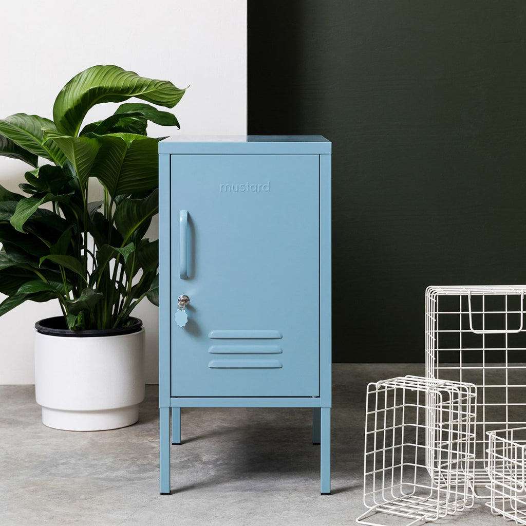 Mustard Made Metal Lockers - The Shorty in Ocean