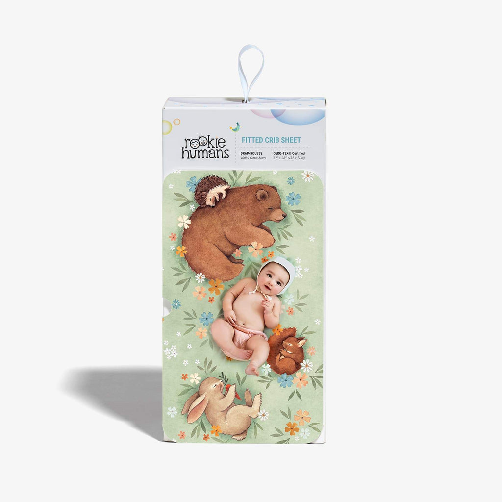 Rookie Humans Fitted Cot Sheet - Enchanted Meadow