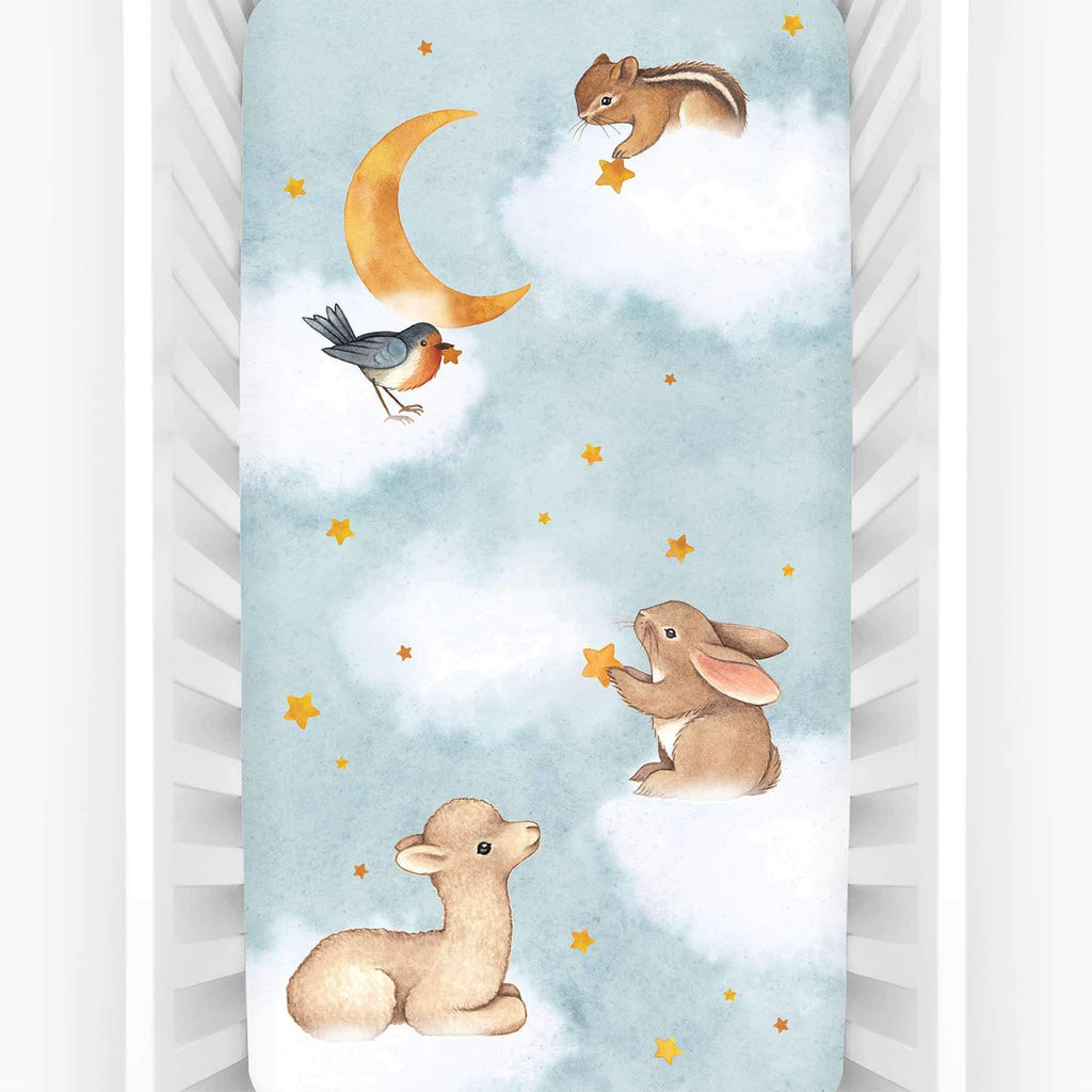 Rookie Humans Fitted Cot Sheet - Goodnight Wonderland