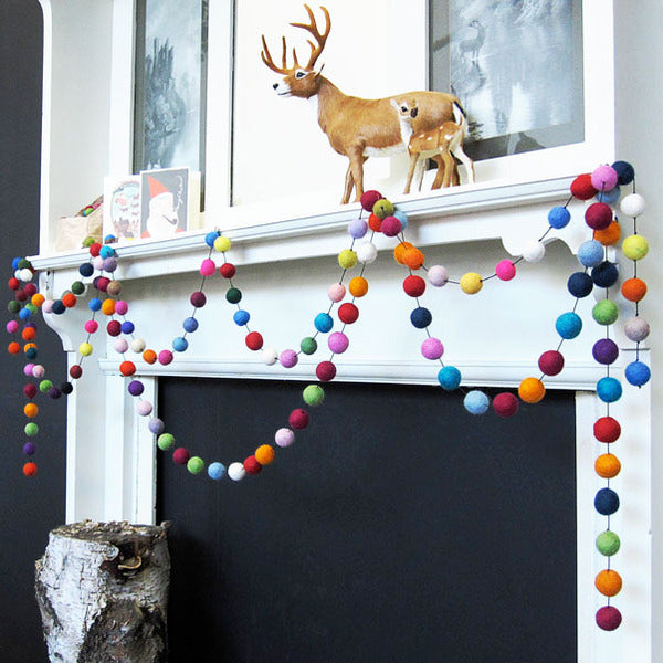 Down To The Woods Freckle Felt Garland