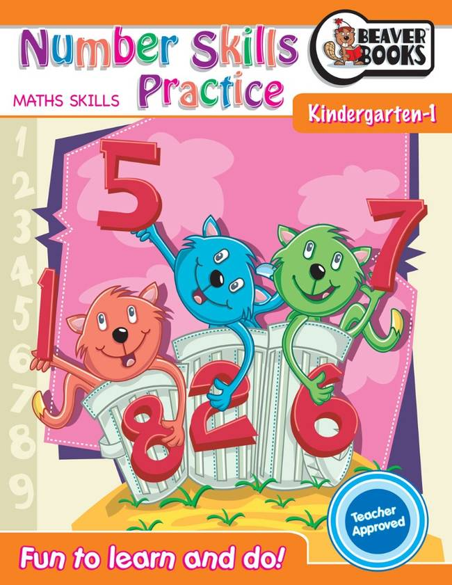 Beaver Learning Books - Number Skills Practice Kindergarten 1