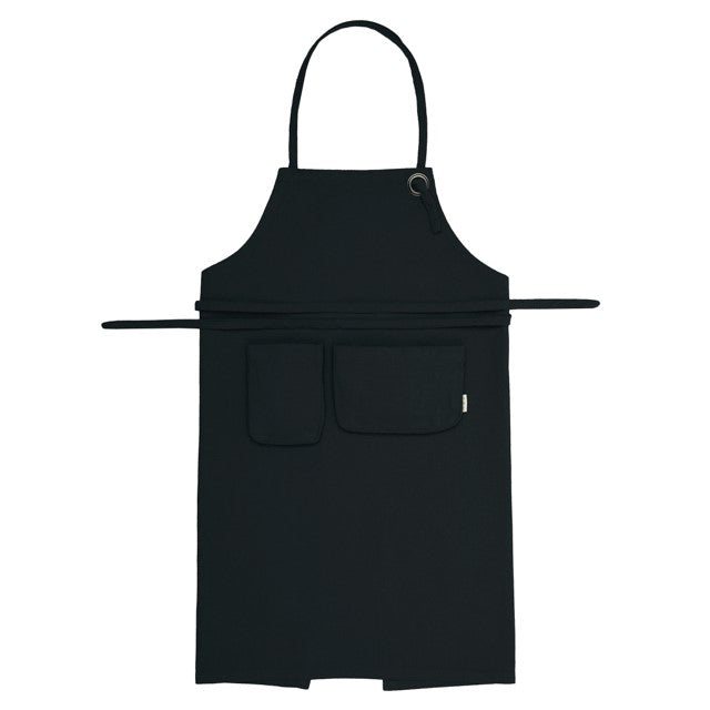 Numero 74 Organic Cotton Kids Apron  Dark Grey
