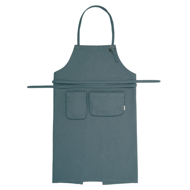 Numero 74 Organic Cotton Kids Apron - Ice Blue