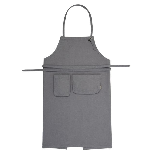 Numero 74 Organic Cotton Kids Apron - Stone Grey