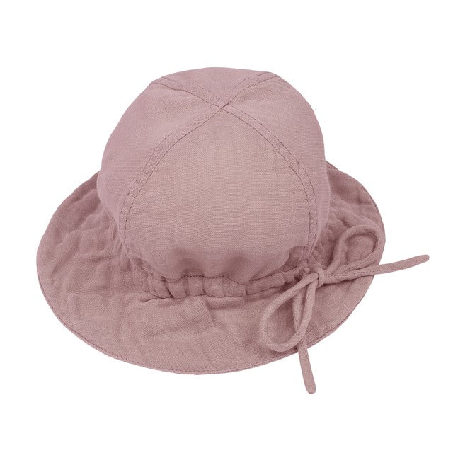 Numero 74 Organic Cotton Lili Sun Hat - Dusty Pink