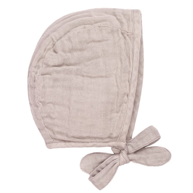 Numero 74 Organic Cotton Lou Baby Bonnet  Powder Pink