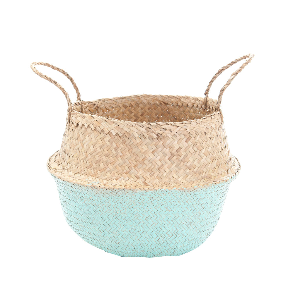 Olli Ella Natural Belly Basket Mint