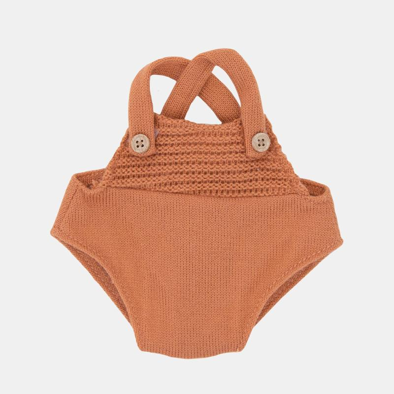 Olli Ella Dinkum Doll Clothes - Rust Orange Romper