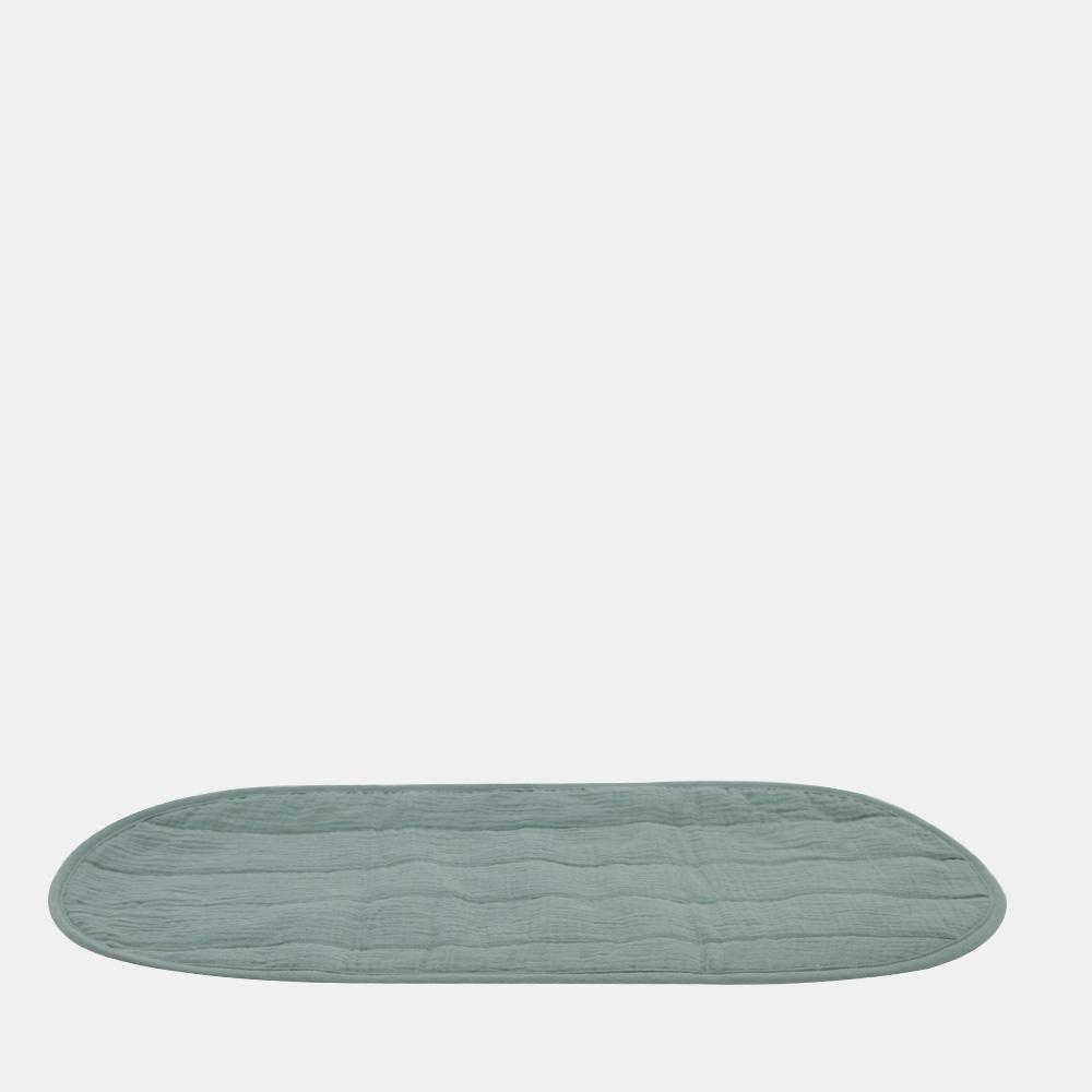 Olli Ella Luxe Organic Cotton Changing Basket Liner  Sage