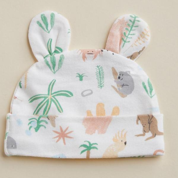 Halcyon Nights Baby Clothes  Outback Dreamers Baby Hat with Ears