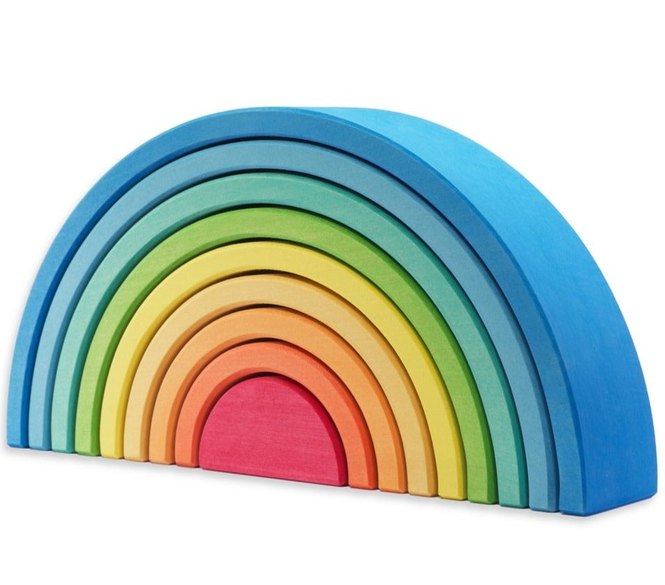 Ocamora Wooden Rainbow - 9 Piece Blue