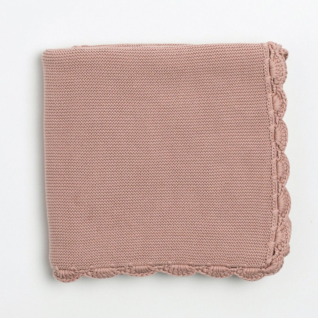 Zestt Organics - Organic Cotton Heirloom Baby Blanket in Berry