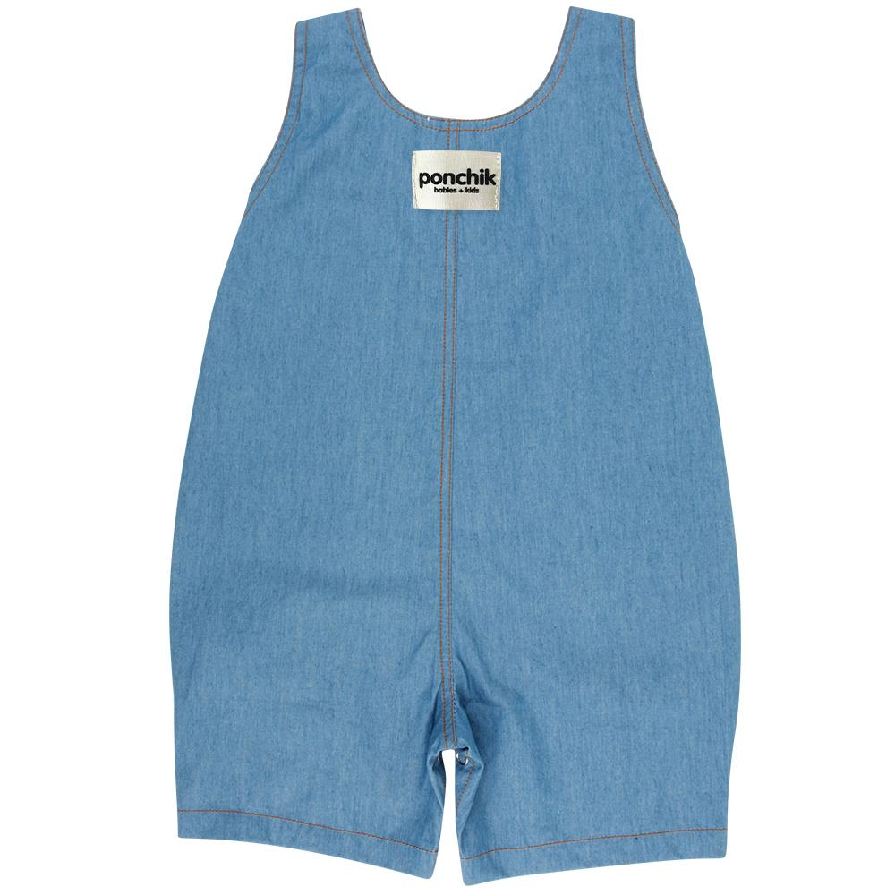 Ponchik Pocket Overalls - Chambray