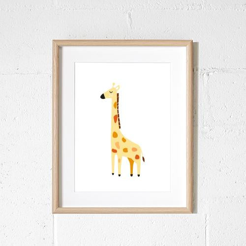 Sprout and Sparrow Kids Wall Art  Alfie the Giraffe