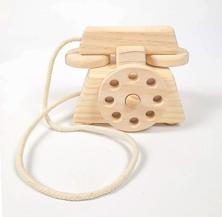 Matlee Small Wooden Play Phone